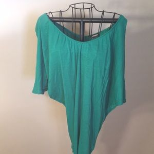 Kelly green off the shoulder cotton top